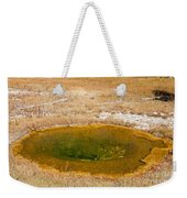 Pool In Upper Geyser Basin In Yellowstone National Park Weekender Tote Bag