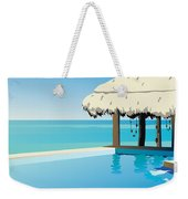 Pool On The Ocean Weekender Tote Bag