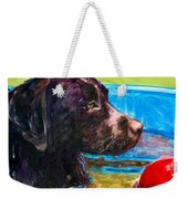Pool Party Of One Weekender Tote Bag by Molly Poole
