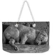Pooped Puppy Bw Weekender Tote Bag by Steve Harrington