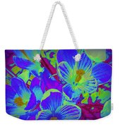 Pop Art Blue Crocuses Weekender Tote Bag