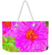 Pop Art Floral Weekender Tote Bag