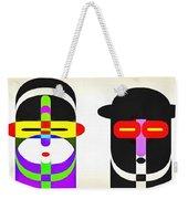 Pop Art People Row White Background Weekender Tote Bag