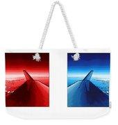 Red Blue Jet Pop Art Planes  Weekender Tote Bag