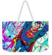 Pop Art Superman Weekender Tote Bag