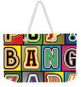 Pop Words Weekender Tote Bag