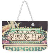 Popcorn Stand Carnival Photograph From The Summer Fair Weekender Tote Bag