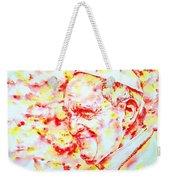 Pope Francis Profile -watercolor Portrait Weekender Tote Bag