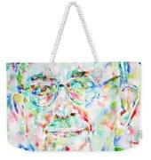 Pope Francis Watercolor Portrait Weekender Tote Bag