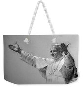 Pope John Paul II Bw Weekender Tote Bag