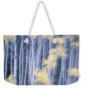 Poplar Trees In Autumn, Grey Creek Weekender Tote Bag