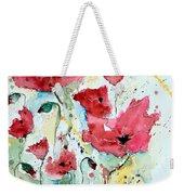 Poppies 05 Weekender Tote Bag by Ismeta Gruenwald