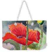 Poppies 3 Weekender Tote Bag