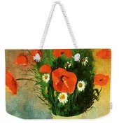 Poppies And Daisies Weekender Tote Bag by Odilon Redon