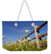 Poppies And Fence 2am-110209 Weekender Tote Bag