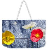 Poppies And Granite Weekender Tote Bag