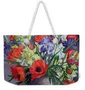 Poppies And Irises Weekender Tote Bag