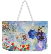 Poppies At Argenteuil Claude Monet Weekender Tote Bag