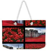 Poppies At The Tower Collage Weekender Tote Bag