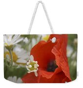 Close Up Of A Poppy With Daisies Weekender Tote Bag