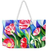 Poppies Field Square Quilt  Weekender Tote Bag