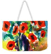 Poppies In A Vase Weekender Tote Bag
