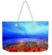 Poppies In The Mist Weekender Tote Bag