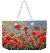Poppies In The Wind Weekender Tote Bag