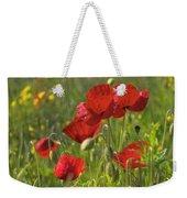 Poppies In Yorkshire Weekender Tote Bag