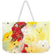 Poppies Lady Weekender Tote Bag
