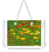 Poppies Of Tuscany Poster Weekender Tote Bag