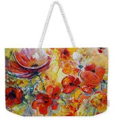 Poppies On Fire Weekender Tote Bag