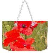 Poppies Vi Weekender Tote Bag