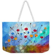 Poppy And Dragonfly Weekender Tote Bag