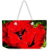 Giant Poppy Art  Weekender Tote Bag