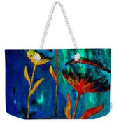 Poppy At Night Abstract 1 Weekender Tote Bag