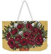 Poppy Bouquet Weekender Tote Bag