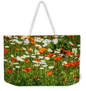 Poppy Fields - Beautiful Field Of Spring Poppy Flowers In Bloom. Weekender Tote Bag