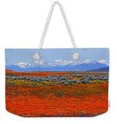 Poppy Fields Forever Weekender Tote Bag