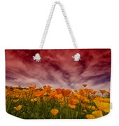 Poppy Fields Forever Weekender Tote Bag
