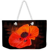 Poppy Passion Square Weekender Tote Bag
