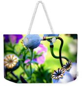 Poppy Pods And Curvy Stems. Weekender Tote Bag
