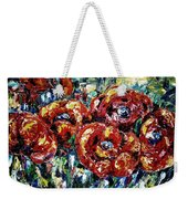 Poppy Red Flowers Weekender Tote Bag
