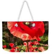 Poppy Watercolor Effect Weekender Tote Bag
