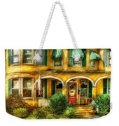 Porch - Cranford Nj - A Yellow Classic  Weekender Tote Bag