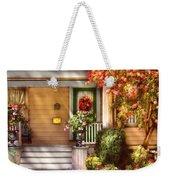 Porch - Cranford Nj - Simply Pink Weekender Tote Bag by Mike Savad