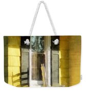 Porch - Long Afternoon Shadow Of Rocking Chair Weekender Tote Bag