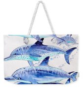 Porpoise Play Weekender Tote Bag by Carey Chen