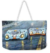 Porsche 917 K Gulf Spa Francorchamps 1971 Weekender Tote Bag