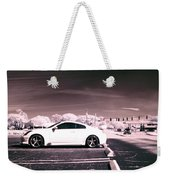 Porsche Car Side Profile Pink Near Infrared Weekender Tote Bag